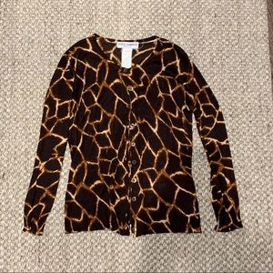 Dolce and Gabbana Brown Cardigan Medium
